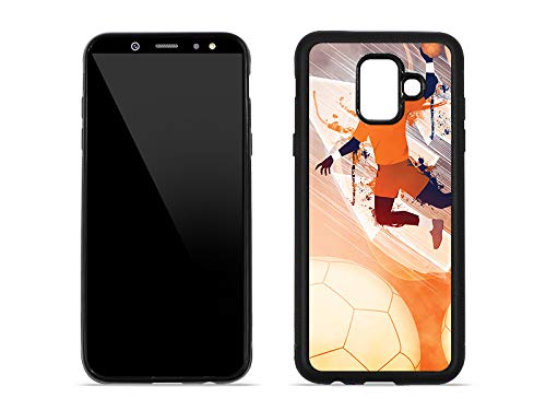 etuo Handyhülle für Samsung Galaxy A6 (2018) - Hülle Hybrid Fantastic - Handball - Handyhülle Schutzhülle Etui Case Cover Tasche für Handy
