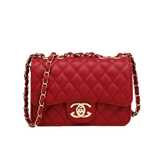 Handbag neue Welle Paket Kuriertasche Damen weiblichen Beutel Handtaschen für Frauen Handtasche (rot, 18.0 cm * 10.0 cm * 14.0 cm)