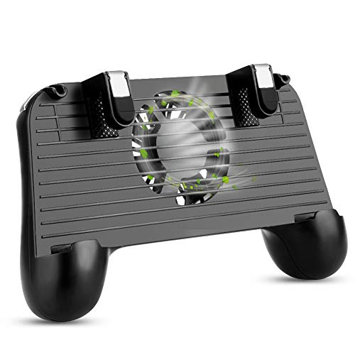 SKYEOL Mobile Game-Controller - Upgrade-Version 2000 mAh mit PUBG 4-in-1 Gamepad, Gaming-Trigger, Handy-Ventilator und Notfall-Ladestation für Android und iOS 2000 Mah Mobile