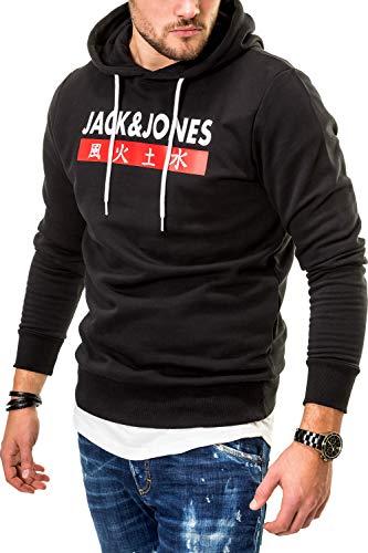JACK & JONES Herren Hoodie Kapuzenpullover Sweatshirt (XXX-Large, Tap Shoe/Elements)