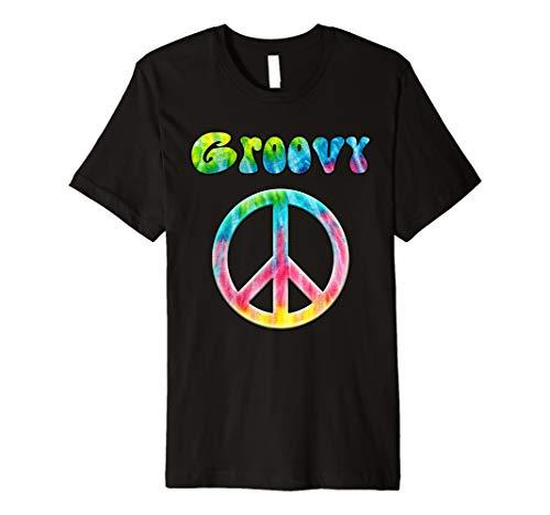 Tie Dye Groovy Hippie Peace Zeichen T-Shirt ()