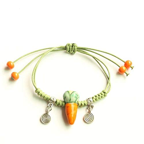 Allgemeiner Zweck Baby Karotte Muster handgemachte grüne Seil Weben Quaste Armband Mädchen Armband - Weben Muster