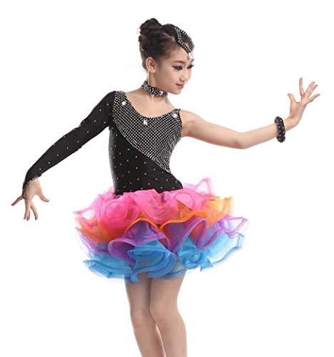 YZLL Kind Latin Dance Kostüme Latin Rumba Dance Dress Ballsaal Salsa Dance Dress ()