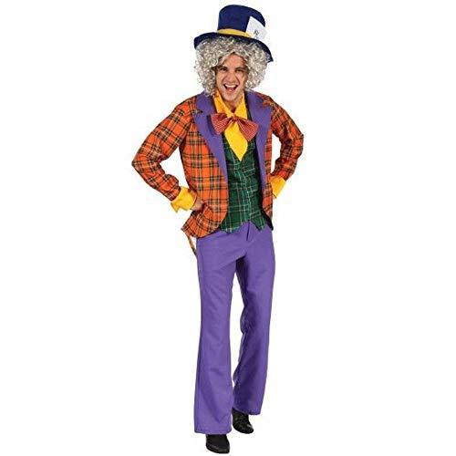 Snow White costume adult - Herren Kostüm Verrückter Hutmacher Clown Jacket Hose Hemd Hut - Größe M/L