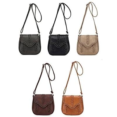 Fulltime® Femmes rétro cuir fourre-tout sac à bandoulière sac bandoulière besace Messenger