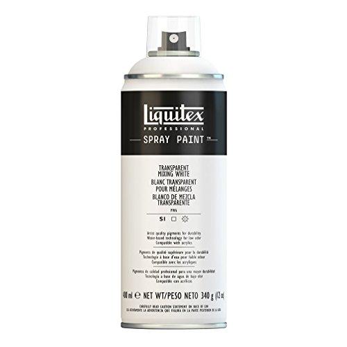Liquitex Professional - Acrílico en spray, 400ml, blanco transparente
