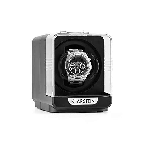 Klarstein Eichendorff - Uhrenbeweger, Uhrendreher, Uhrenbox, Uhrenkasten, Kapazität: 1 x Automatikuhr, 4 Bewegungsmodi, Laufruhig, Sichtfenster, Netzbetrieb, schwarz -