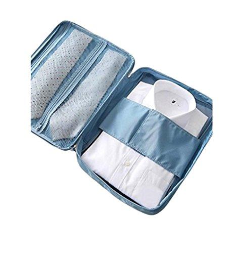 Ducomi® cloonie organizer da viaggio per camicie e cravatte (light blue)