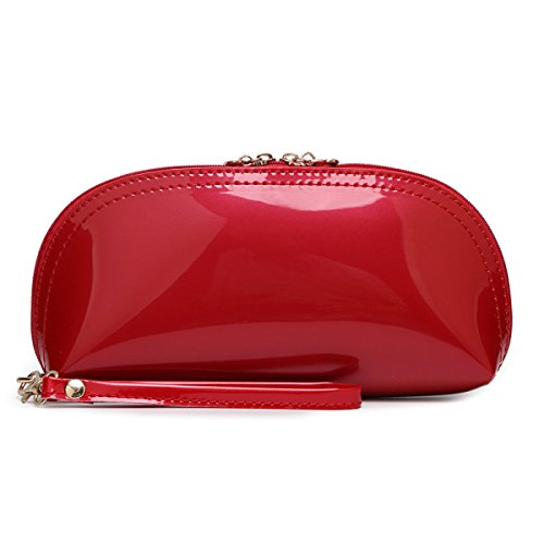 Lady Pelle Verniciata Cuoio Dell'unità Di Elaborazione Sacchetto A Mano Sacchetto A Mano Sacchetto Cosmetico Sacchetto Di Sera Colore Della Caramella Optional A 15 Colori Red