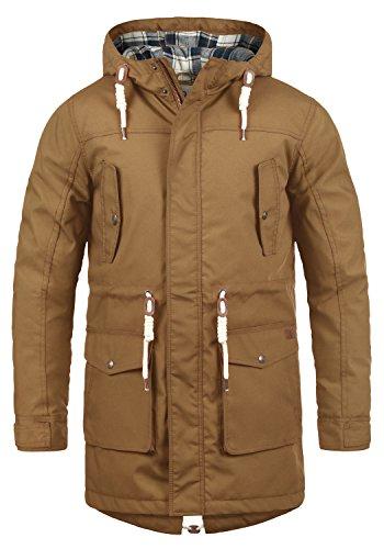 !Solid Chara Herren Winter Jacke Parka Mantel Lange Winterjacke gefüttert mit Kapuze, Größe:L, Farbe:Cinnamon (5056)