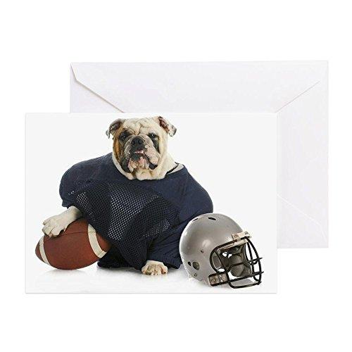 CafePress–Sport Hound–Englisch Bulldog Kleid–Grußkarte, Note Karte, Geburtstagskarte, innen blanko, glänzend