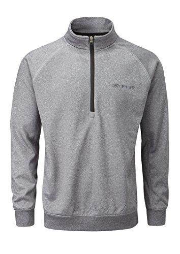 STUBURT Herren Sweater Essentials Half Zip Neck, Grey Marl, XXL, SBSWT200 (Sweater Zip Golf Half)