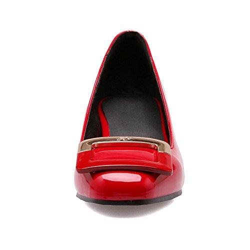 BalaMasa, antiscivolo, tacco basso, in pelle, per scarpe e pompe Red