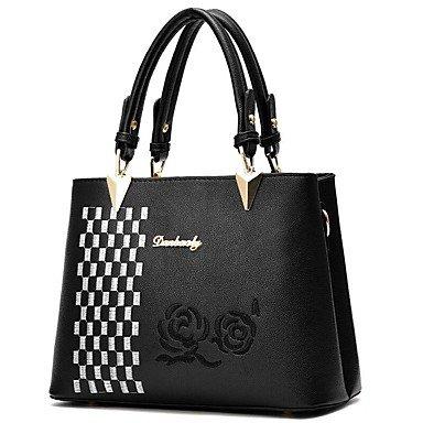 Damenmode PU Leder Schulter Messenger Crossbody-tasche/Handtasche Tote Gray