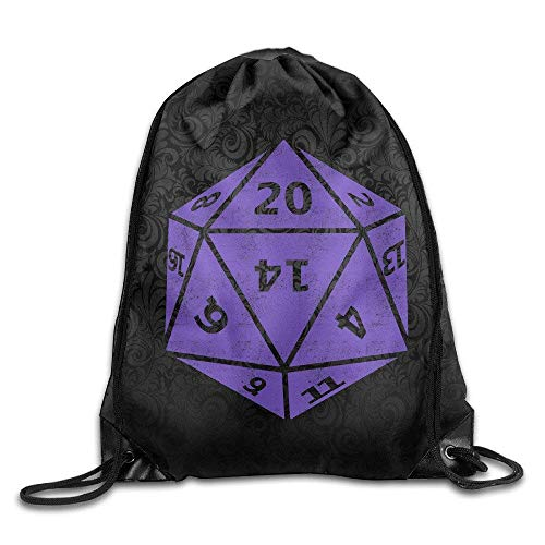 Etryrt-Bags Unisex Turnbeutel/Bedruckte Sportbeutel, Premium Drawstring Gym Bag Rucksack, Adult D20 Dice Training Gym Drawstring Backpack Bag -