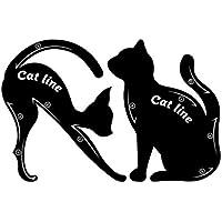 1 par de plantillas para delineador de ojos para gatos, fácil de maquillar, rápido