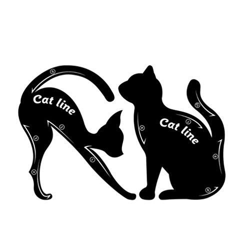 1 par plantillas delineador ojos gatos, fácil maquillar