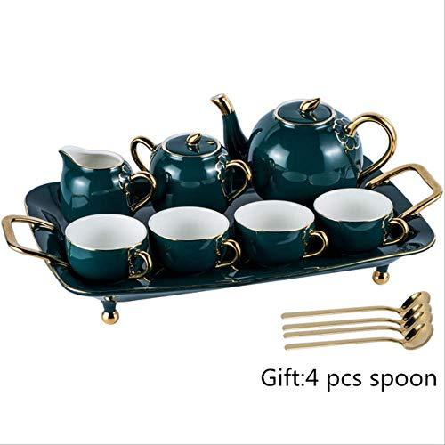 QYYDMKB Bone China Kaffeeservice Britisches Porzellan Teeservice Keramiktopf Milchkännchen...