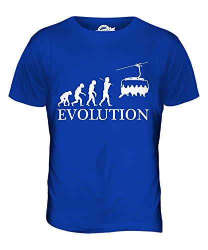 CandyMix Seilbahn Evolution Des Menschen Herren T Shirt Königsblau