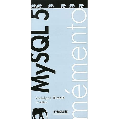 MySQL 5 de Rimelé. Rodolphe (2012) Broché