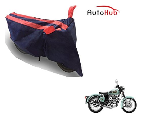 Auto Hub Black Orange Bike Body Cover For Royal Enfield Classic 350  available at amazon for Rs.275