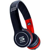 Soul by Ludacris SL100 Ultra Dynamische On-Ear-Kopfhörer schwarz/rot