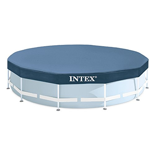 Metall-frame Pool-set (Intex Round Pool Cover - Poolabdeckplane - Ø 366 cm - Für Metal und Prism Frame Pool)