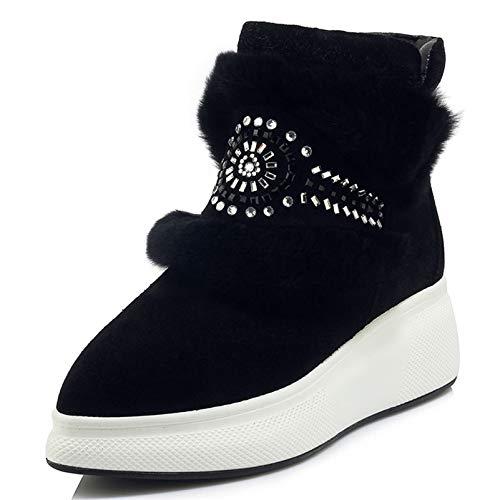 Mengltx sandali tacchi alti stivaletti da donna di alta qualità strass scarpe da festa di nozze donna zeppe tacchi alti scarpe da donna corti donna 6 nero