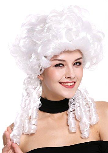 WIG ME UP ® - DH1009-ZA62 Peluca señoras Mujer Carnaval Barroco Renacimiento Romanticismo menina Princesa rizos Espiral bucles Blanca