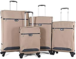 TraveliteLuggage Trolley Bags Set,4 pcs,887066-khaki