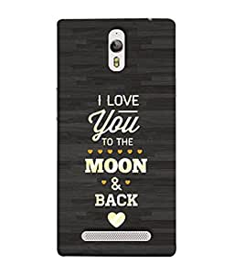 PrintVisa Designer Back Case Cover for Oppo Find 7 :: Oppo Find 7 QHD :: Oppo Find 7a :: Oppo Find 7 FullHD :: Oppo Find 7 FHD (Moon & Back Words Sweet heart )