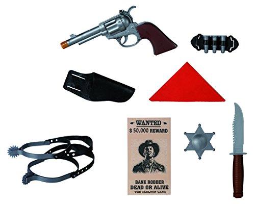 Set Giocattolo Cowboy Costumi Travestimenti Spettacoli Feste Pistolero
