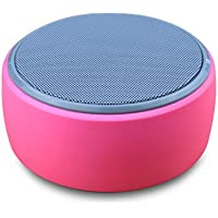 Ouneed Bluetooth Wireless Boombox Stereo Speaker Portable For Phone Tablet PC (Hot Pink)