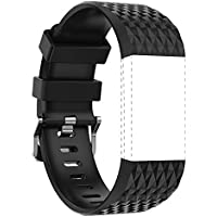 For Fitbit Charge 2 Latest Style Sports Silicon Rubber Wrist Strap Bangle WristBand With Metal Watch Clasp