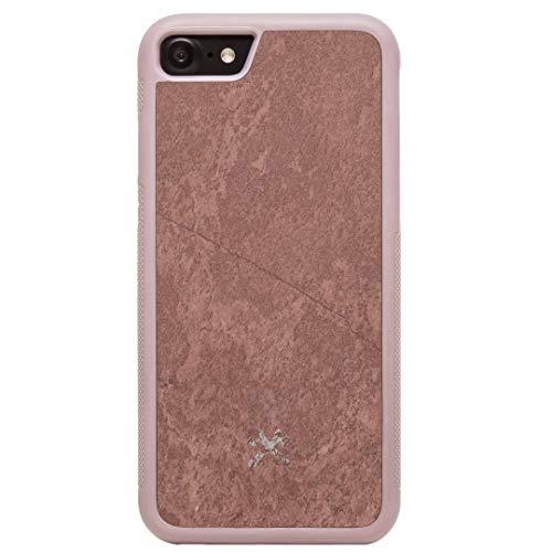 Woodcessories - EcoBump Stone Case kompatibel mit iPhone 7, 8 aus hochwertigem Stein (Canyon Rot) -
