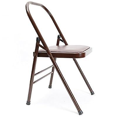 Barhocker MAZHONG Yoga Chair Li-förmiger Sun-assistierter Stuhl Yoga-unterstützter Klappstuhl