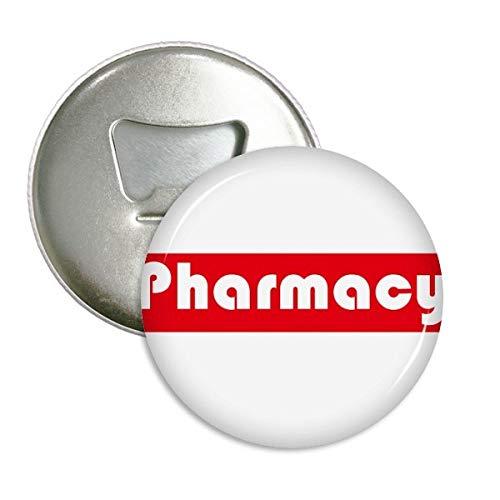Curso principales farmacia rojo redondo abridor botellas