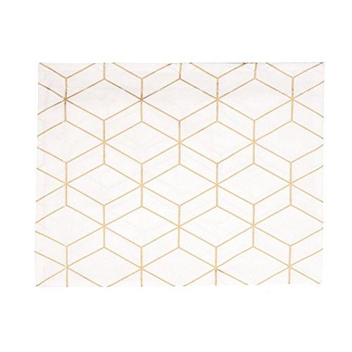 Present Time Nappe Graphique blanche 140x220 cm
