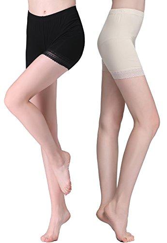 Vinconie Bragas Shorts Leggings Cortos Encaje Mujer