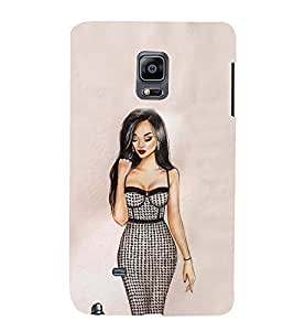 Fiobs Designer Back Case Cover for Samsung Galaxy Note Edge :: Samsung Galaxy Note Edge N915Fy N915A N915T N915K/N915L/N915S N915G N915D (Lady Girl Ladki Scarf Lovely Good Gift )