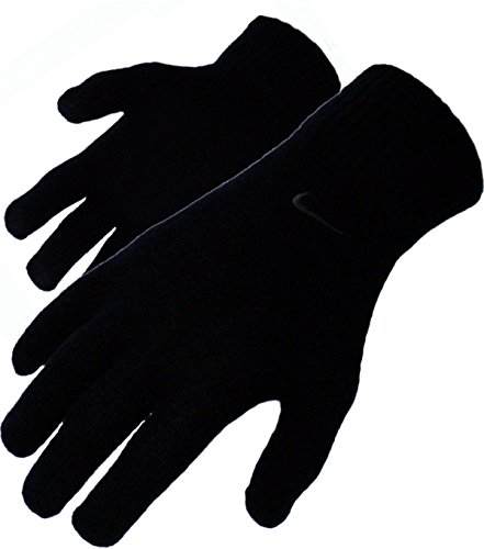 Nike - Strick Winter Handschuhe mit verschienden Swoosh Farben - Black (L/XL, Black Black)