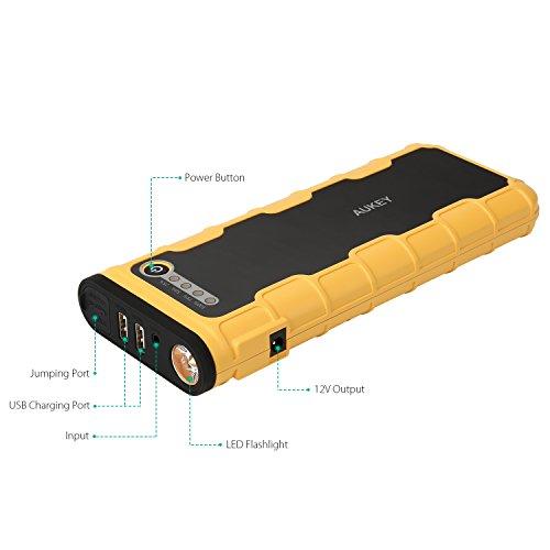 AUKEY-Arrancador-de-Coche-600A-Pico-para-Vehculos-Pesados-y-Banco-de-Energa-18000mAh-12V-de-Salto-Puerto-Salida-USB-5V-2A-y-5V-1A-Salida-12V-10A-12V-Salto-de-Arranque-del-Motor-y-Batera-Externa-para-i