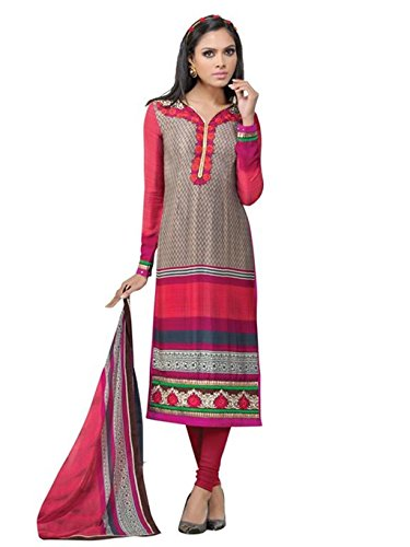 crazy bachat Indian Designer Salwar Suits Frech Crape Multi Color Semi Stitched Dress