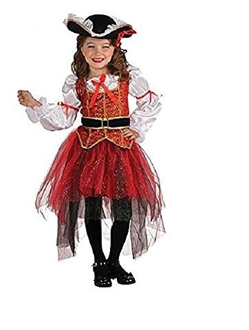 Rubie 's Offizielles Princess of the Seas-Kostüm, Mädchen, Größe M (Piraten-mädchen-kostüm Uk)