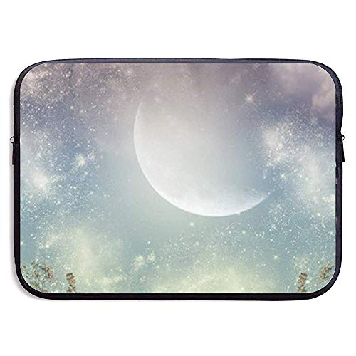 Half Moon Over The Sky 13-15 Zoll Laptoptasche - Tablet Clutch-Tragetasche, wasserdicht, schwarz -