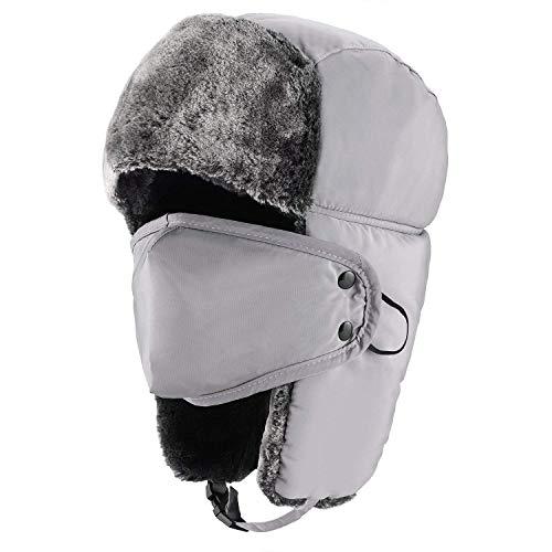 iado Chapka en Faux Fourrur d hiver Epais Chapeau Trappeur Chaud Bonnet de  Russe d 39e497f5fc0