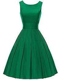 LUOUSE Robes Vintage 1950's Audrey Hepburn robe de soirée cocktail, bal style années 50 Rockabilly Swing