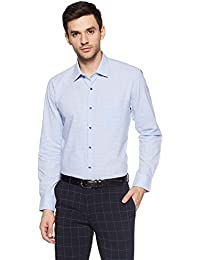 Peter England Men's Checkered Slim Fit Cotton Formal Shirt