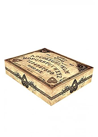 Nemesis Now Spirit Board Gothic Occult Ouija Board Wooden Jewellery Box Brown by Nemesis Now