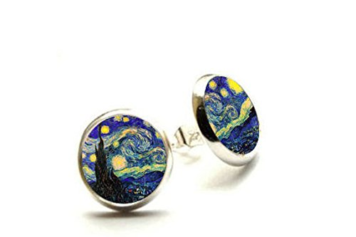 The Starry Night Vincent van Gogh Starry Night, Ohrringe, Van Gogh Ohrringe, hypoallergen Ohrringe